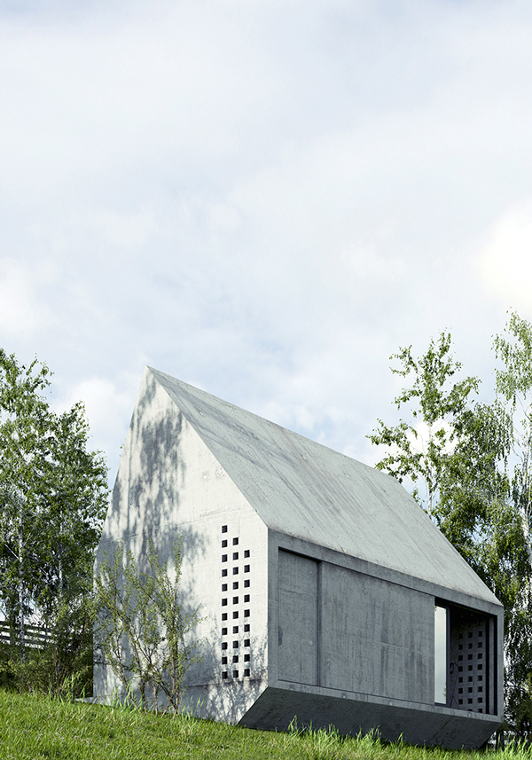 Precast concrete houses austere yet practical design - Precast concrete houses ...