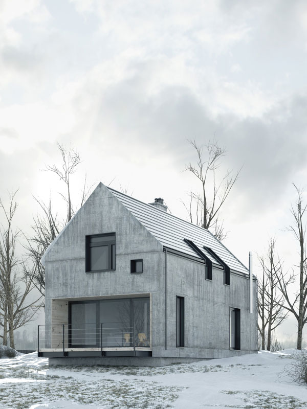 Precast Concrete Houses Austere Yet Practical Design