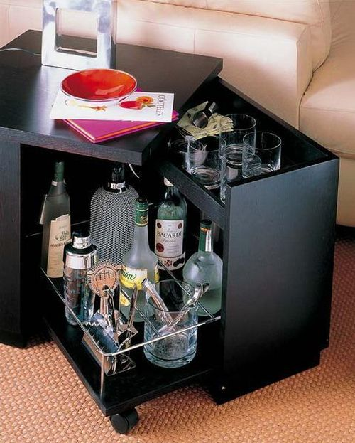 12 Tempting And Stylish Home Bar Ideas - Houz Buzz