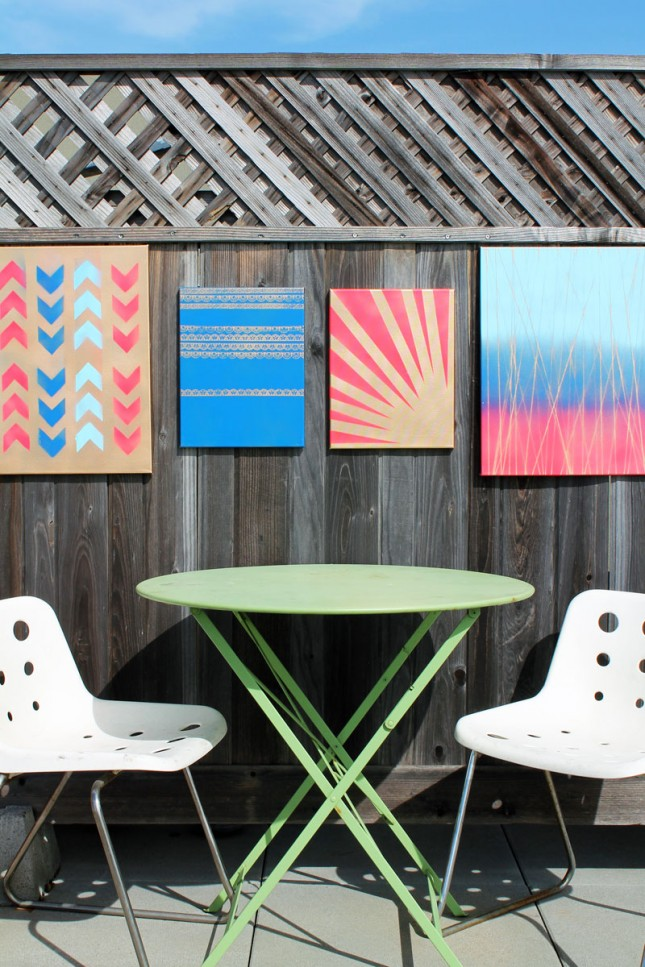 Outdoor wall decorations at home