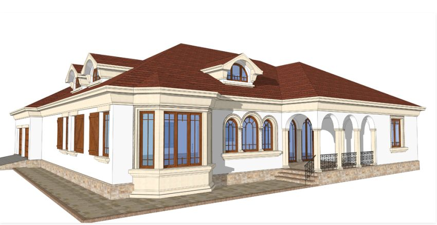 proiecte de case cu arcade arched house plans 9