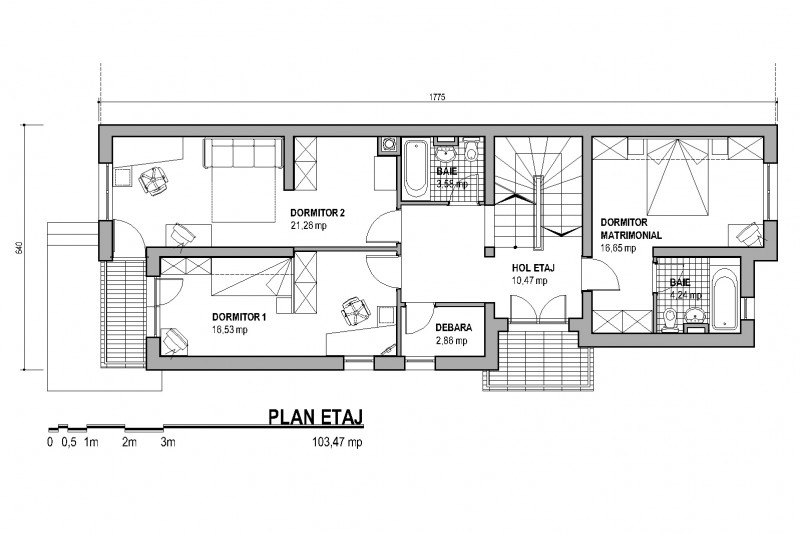 proiecte de case cu etaj si mansarda three story house plans 10