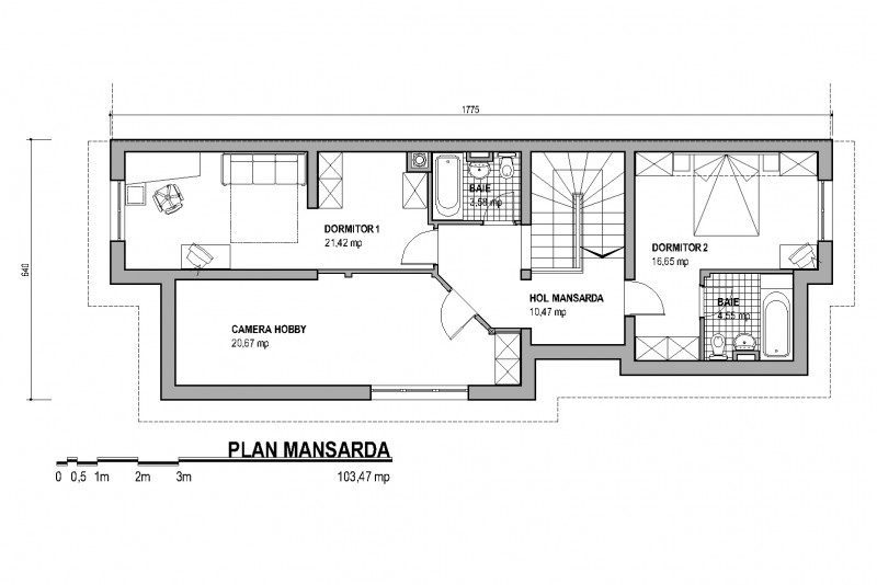 proiecte de case cu etaj si mansarda three story house plans 11