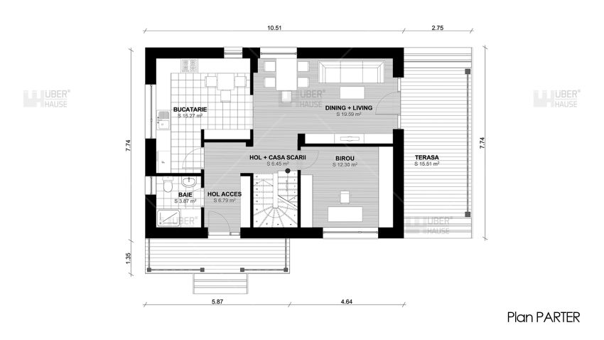 proiecte de case mici cu terasa acoperita Covered patio small house plans 6