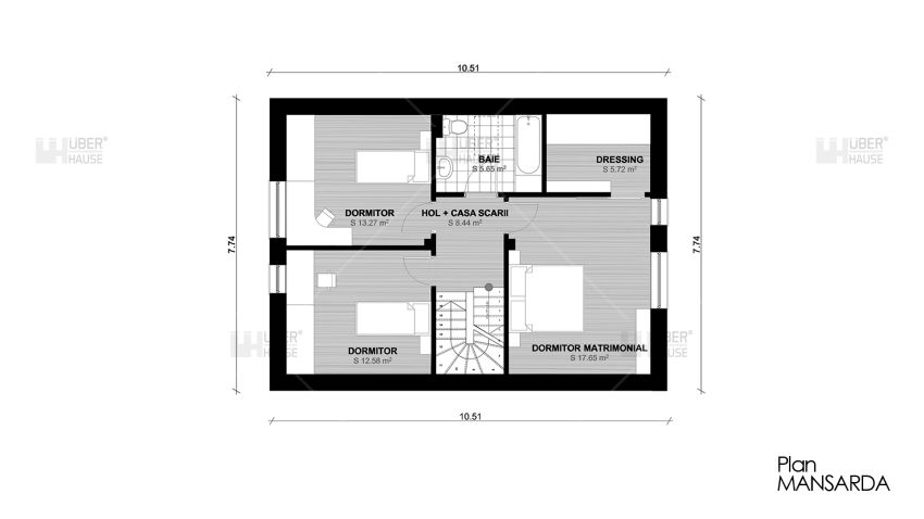 Proiecte de case mici cu terasa acoperita case practice for Patio home floor plans free