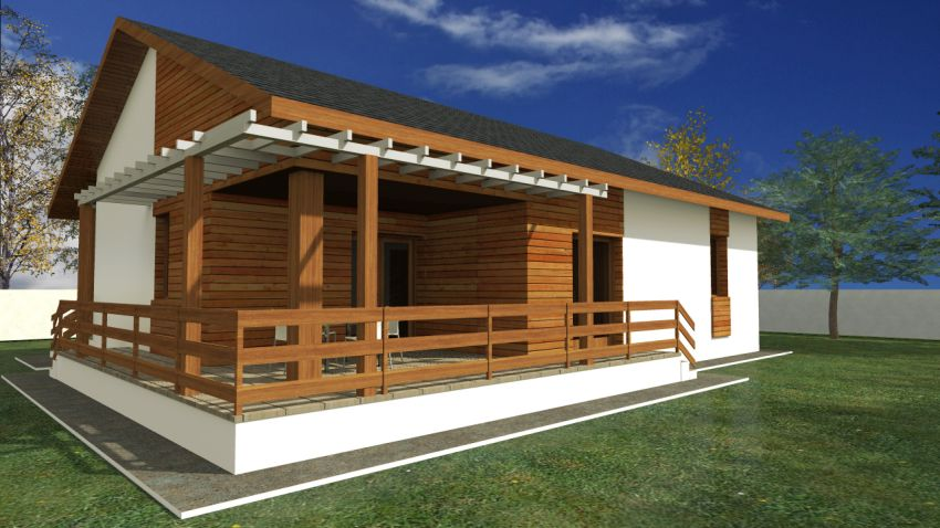 proiecte de case mici cu terasa acoperita Covered patio small house plans