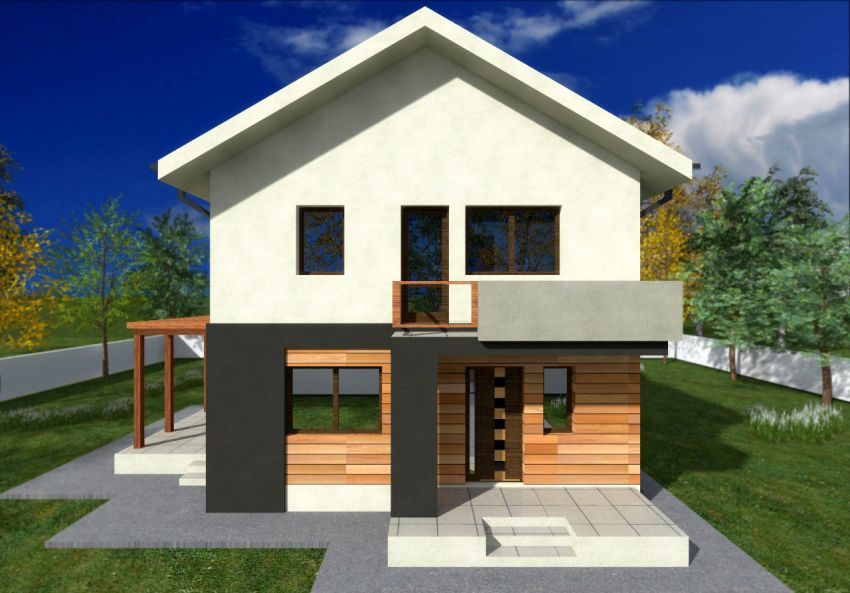 Two story small house plans extra space houz buzz for Simple modern two story house design