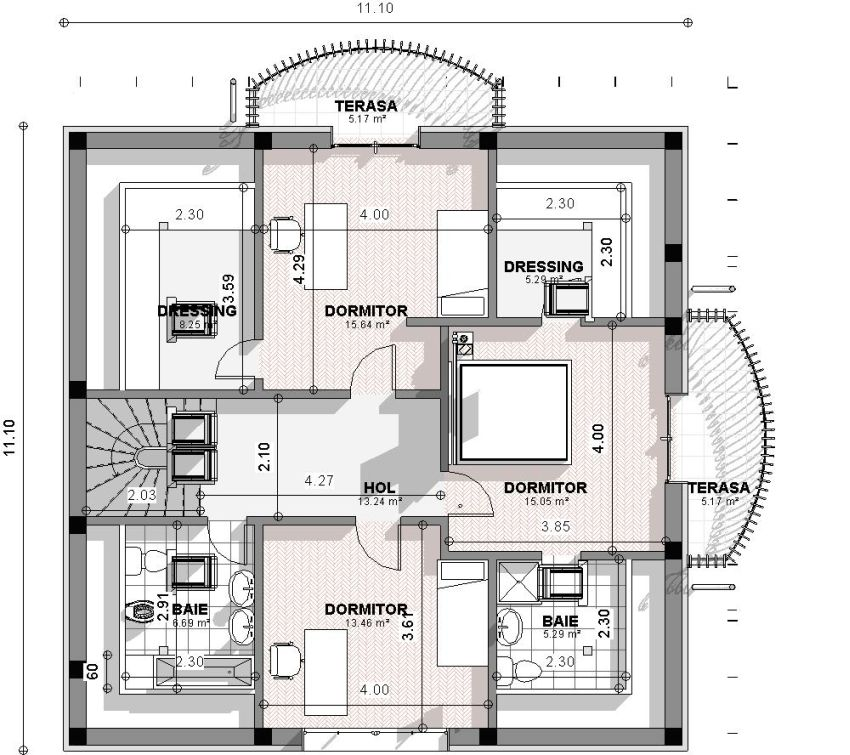proiecte de case spatioase Spacious house plans 4