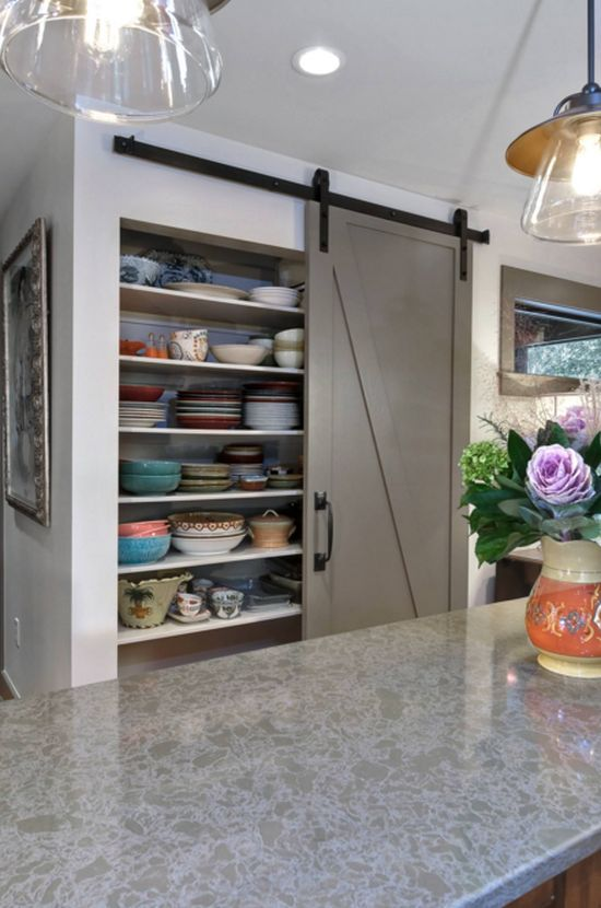 Kitchen, pantry and balcony sliding doors at home