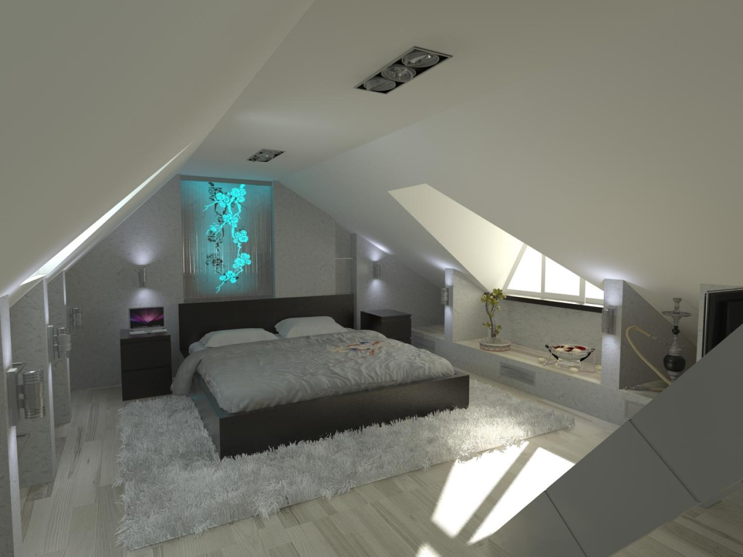 16 small attic room design ideas houz buzz for Attic room decoration