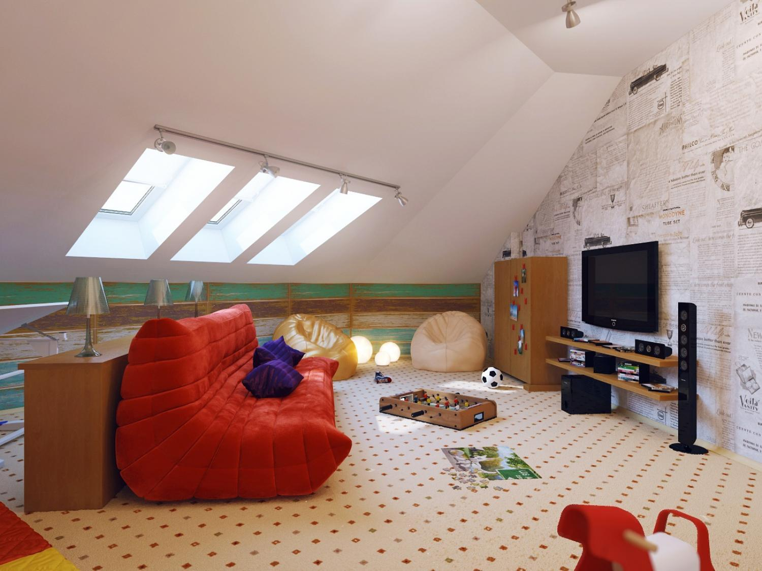 16 small attic room design ideas houz buzz for Attic room