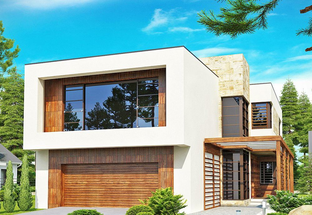 3 proiecte de case cu etaj moderne deschise spre exterior for Contemporary house plans two story