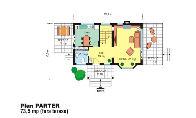 case cu mansarda sub 150 de metri patrati attic houses under 150 square meters 3