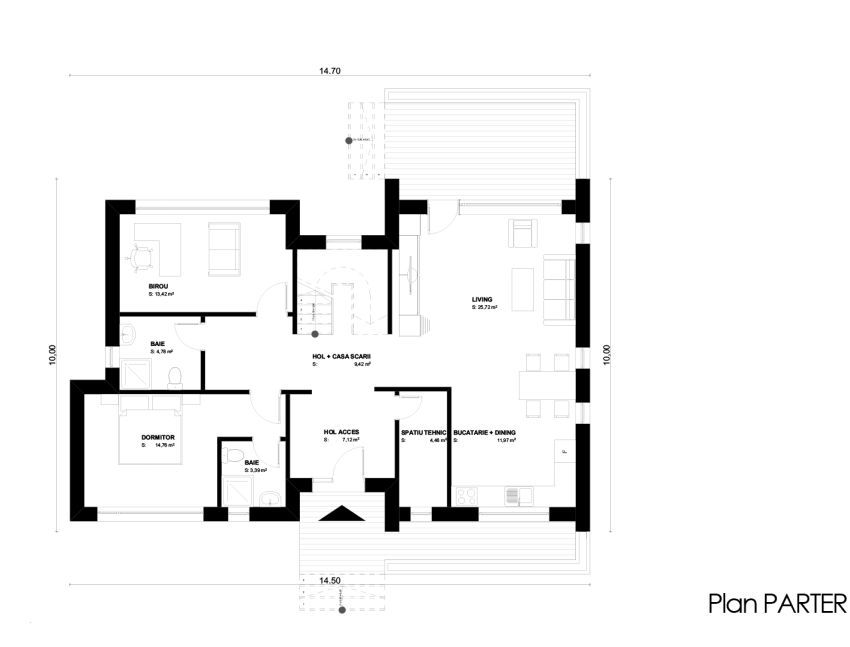 case cu mansarda sub 150 de metri patrati attic houses under 150 square meters 6