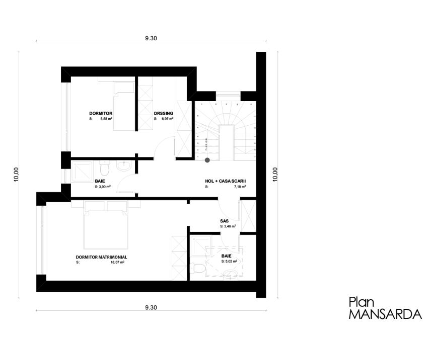 case cu mansarda sub 150 de metri patrati attic houses under 150 square meters 7