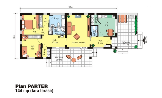 case de vis fara etaj Beautiful one story house plans 10