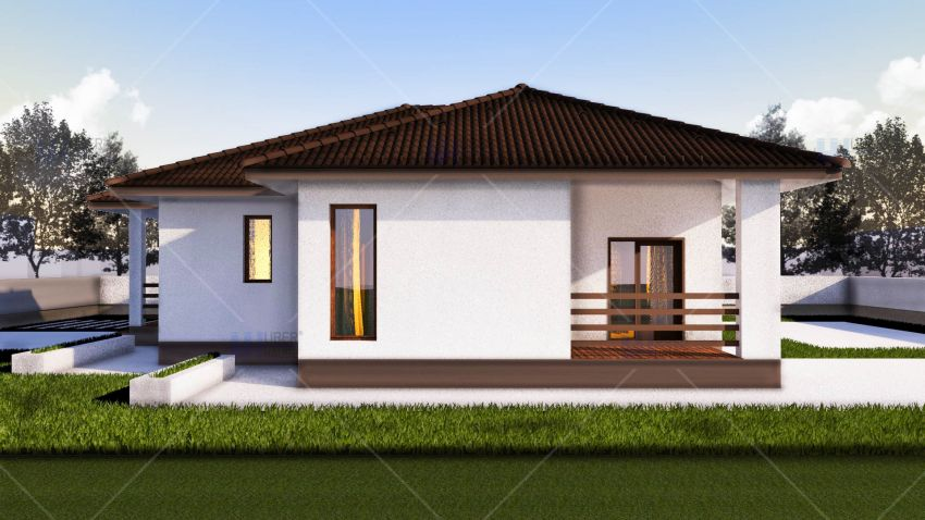 Beautiful one story house plans houz buzz for Simple but beautiful house plans