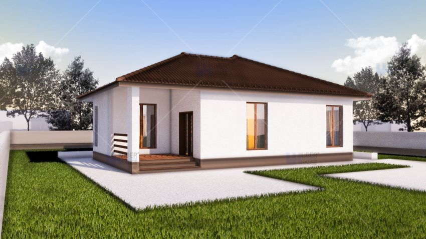 Small modern one story house plans for Beautiful home plans
