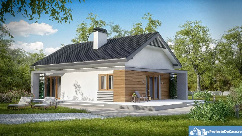case de vis fara etaj Beautiful one story house plans 6