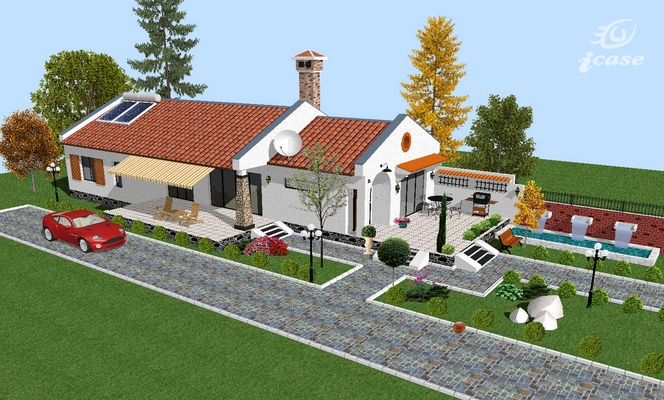 case de vis fara etaj Beautiful one story house plans 9