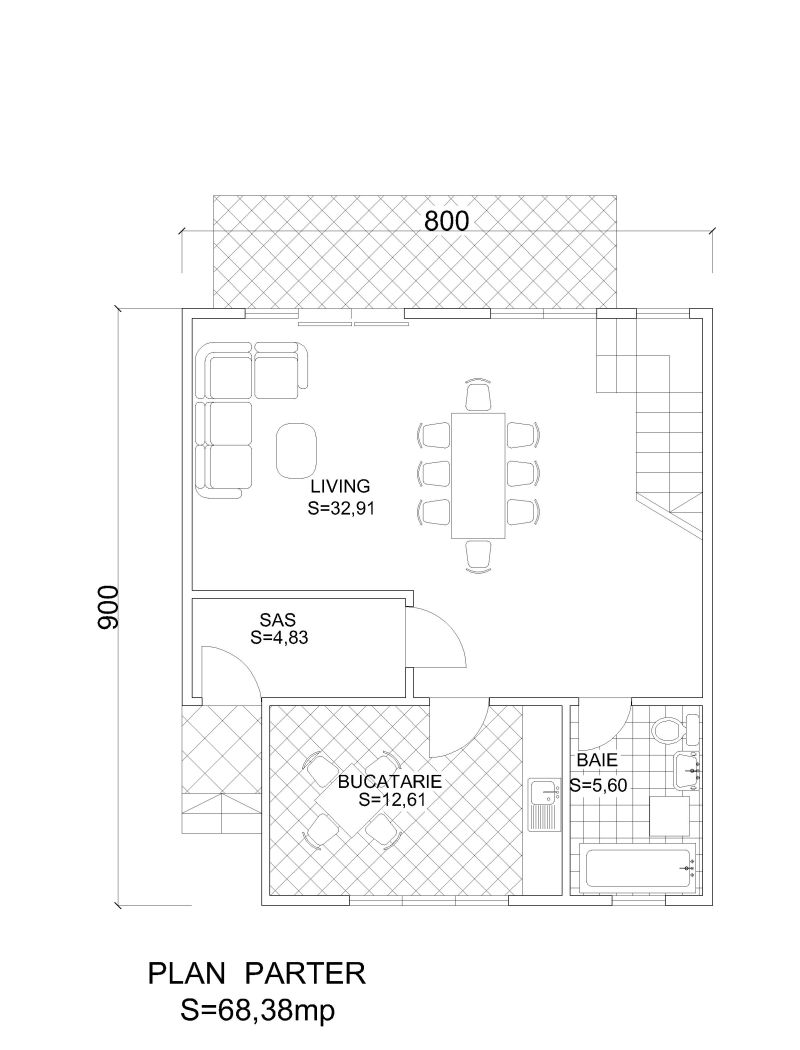 case din barne de lemn masiv Solid wood house plans 17