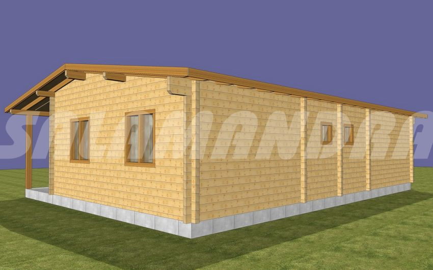 case din barne de lemn masiv Solid wood house plans 2