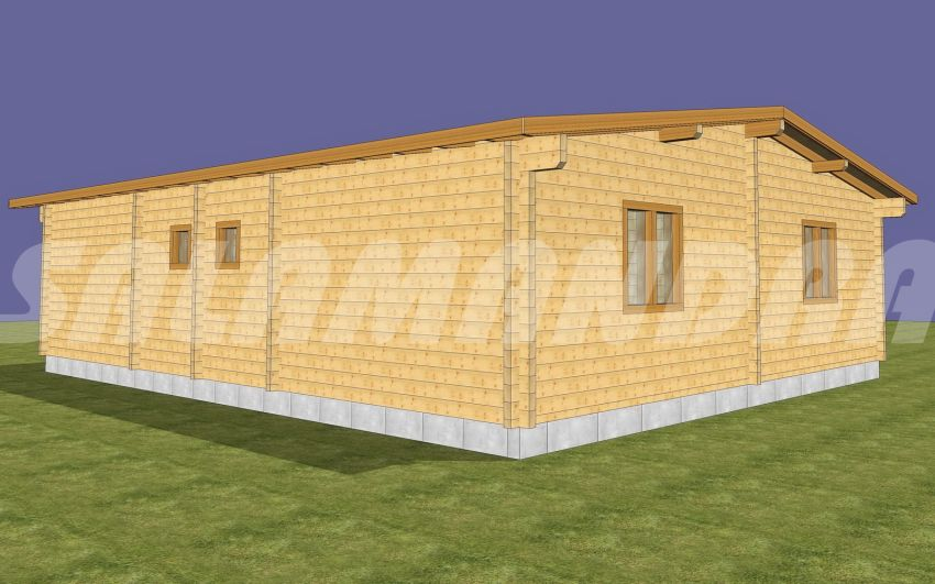 case din barne de lemn masiv Solid wood house plans 3
