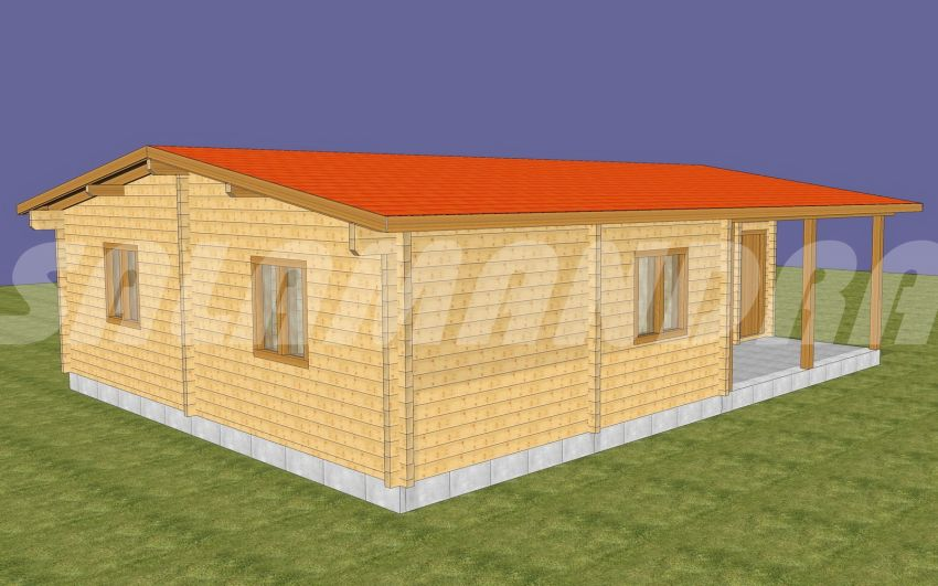 case din barne de lemn masiv Solid wood house plans 4