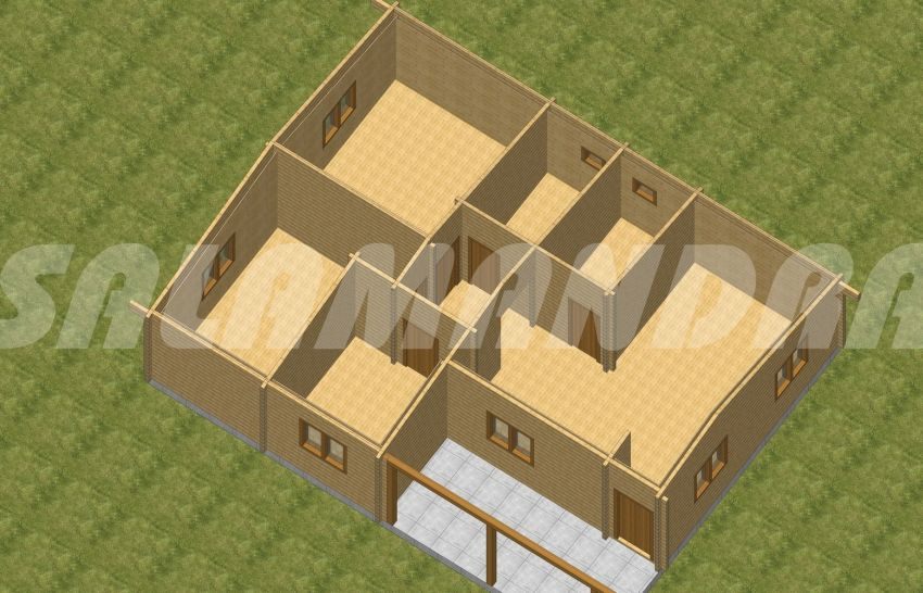 Case din barne de lemn masiv estetica si functionalitate case practice - Solid wood house plans ...