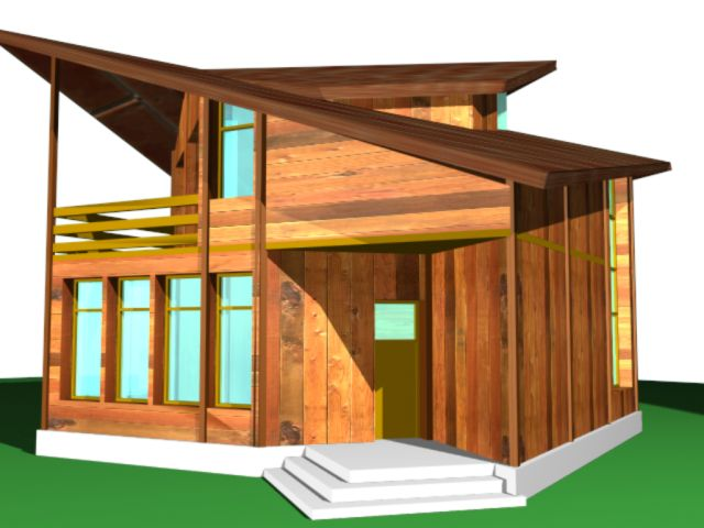 case din barne de lemn masiv Solid wood house plans 8