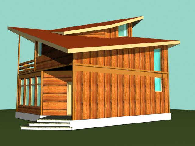case din barne de lemn masiv Solid wood house plans 9