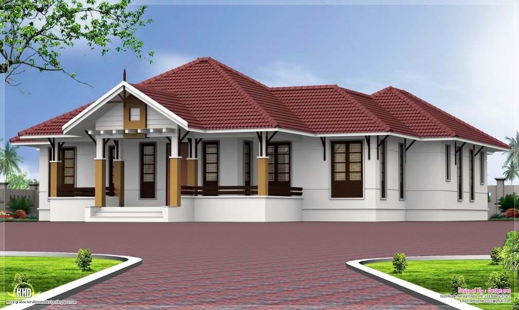 Case fara etaj cu 4 dormitoare case practice - Single story four bedroom house plans ...