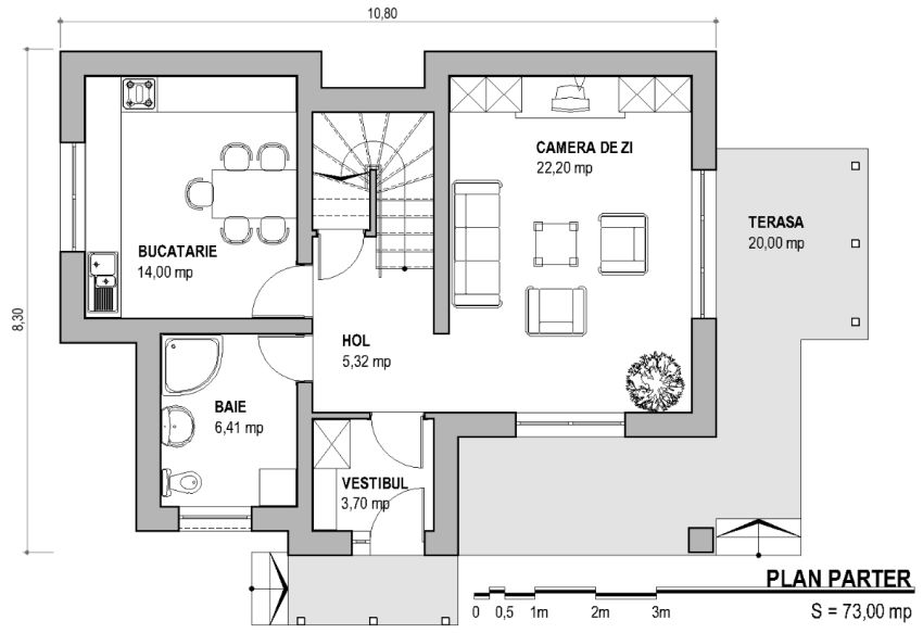 Genial ... Case Mici Cu Trei Dormitoare Small Three Bedroom House Plans 4 ...