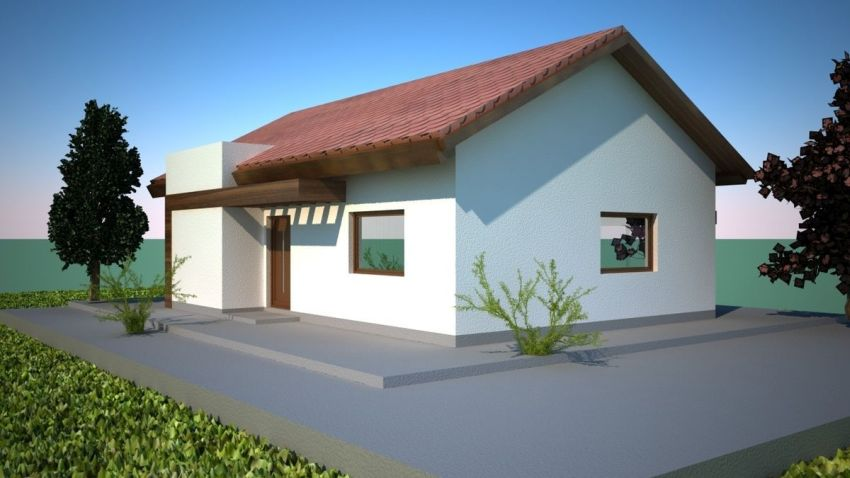 case mici moderne cu un singur nivel Small modern single level houses 7