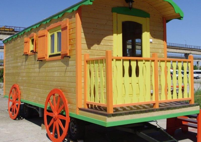 case mobile din lemn Wooden mobile homes 14