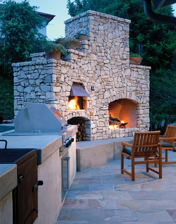 Outdoor brick ovens 16 easy to replicate ideas houz buzz - Outdoor kitchen pizza oven design ...
