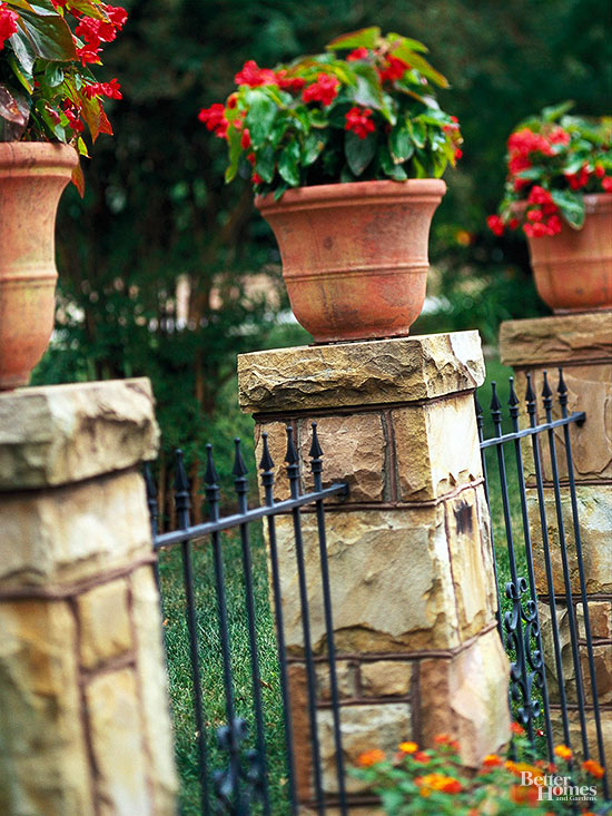 Decorative stone fence ideas for all
