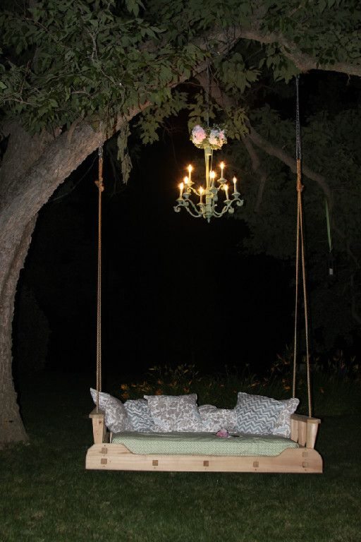 Wooden garden swing ideas for all