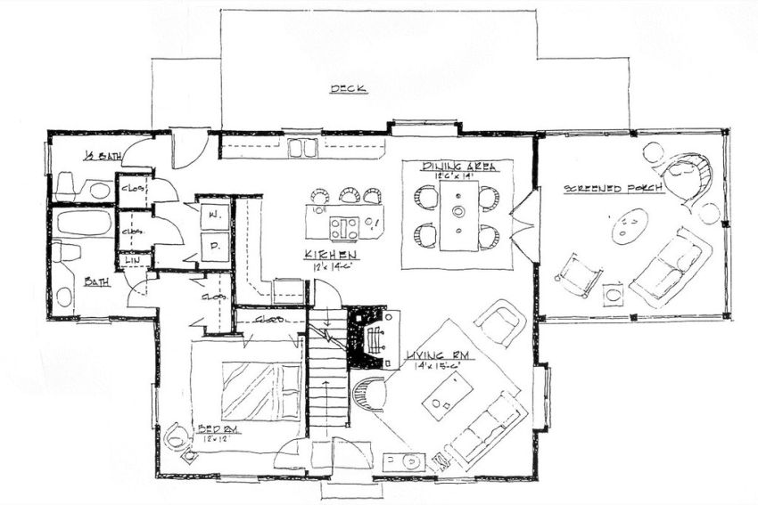 Screened porch house plans endless tranquility houz buzz for Screen room plans