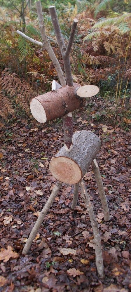 Garden log decorations for all