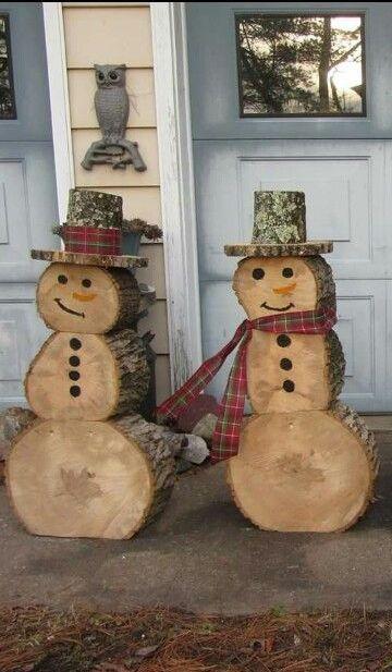 ornamente de gradina din lemn rotund Garden log decorations 4