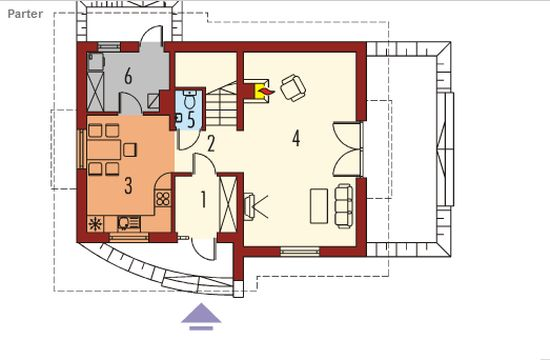 proiecte de case cu mansarda sub 100 de metri patrati Attic houses under 100 square meters 10