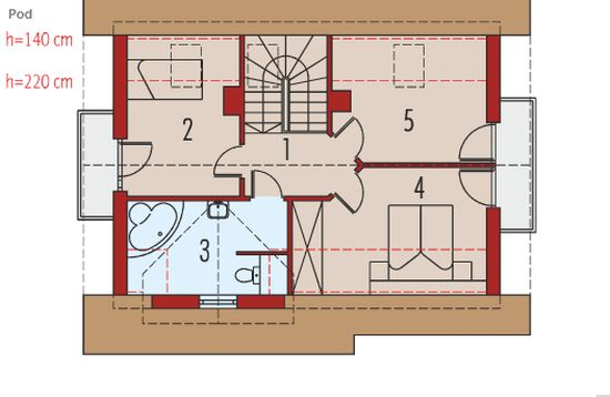 proiecte de case cu mansarda sub 100 de metri patrati Attic houses under 100 square meters 11