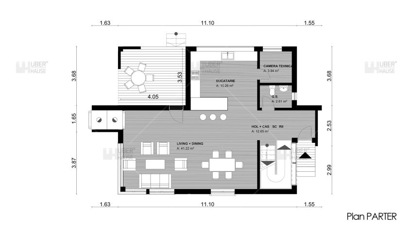proiecte de case cu semineu House plans with fireplaces 4