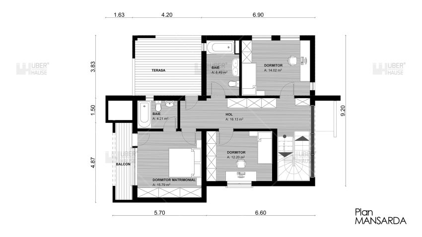 proiecte de case cu semineu House plans with fireplaces 5