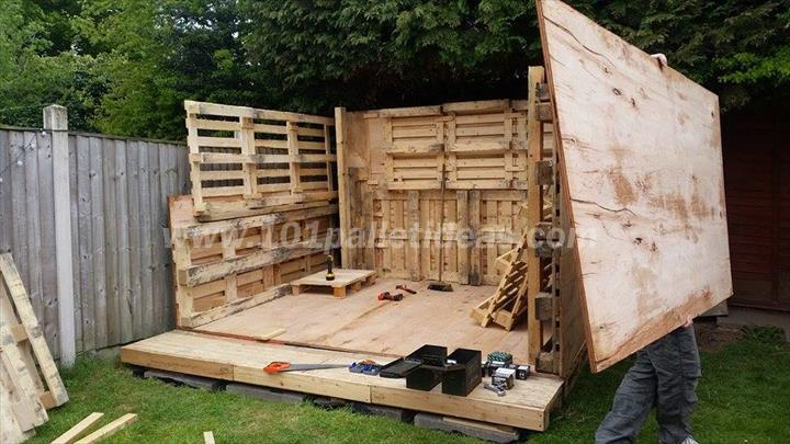 Wood pallet houses savings skills and care for nature for How to build a house out of wood pallets
