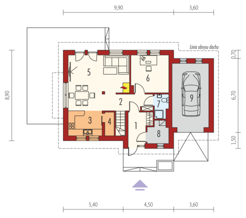 case cu mansarda si balcon Houses with attic and balconies 8