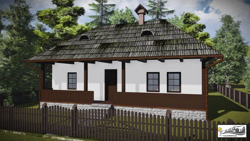 Romanian peasant houses - each of these houses come from a distinct ethnological region of the country