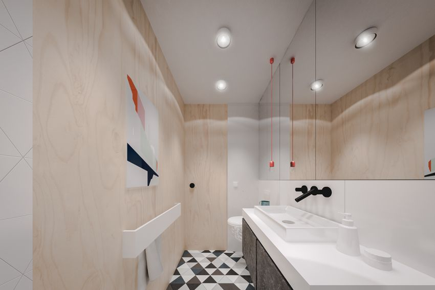 Case study home designs for apartments under 50 square - Salle de bain style scandinave ...
