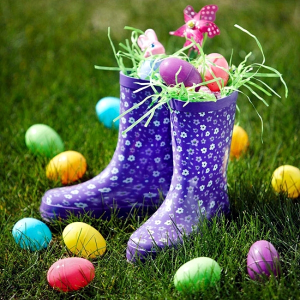 decoratiuni de paste in gradina Outdoor Easter decorations 9